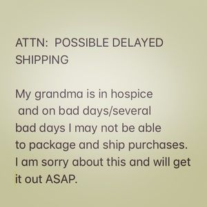 Possible delayed shipment- short term